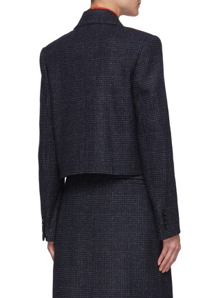 Back View - Click To Enlarge - NINA RICCI - Check Cropped Double Breast Jacket