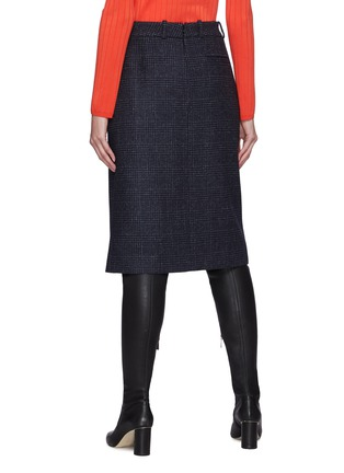 Back View - Click To Enlarge - NINA RICCI - Houndstooth Button Detail Skirt