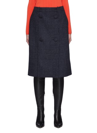 Main View - Click To Enlarge - NINA RICCI - Houndstooth Button Detail Skirt