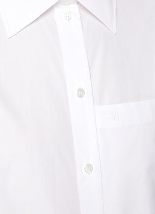 - NINA RICCI - Short Boxy Cotton Shirt