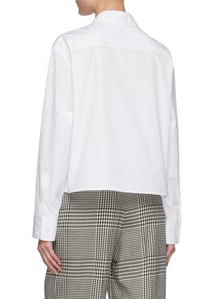 Back View - Click To Enlarge - NINA RICCI - Short Boxy Cotton Shirt