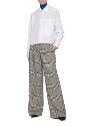 Figure View - Click To Enlarge - NINA RICCI - Short Boxy Cotton Shirt