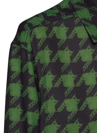 - NINA RICCI - Oversizerd Houndstooth Print Shirt