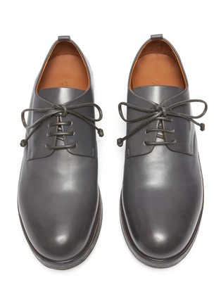 Detail View - Click To Enlarge - MARSÈLL -  ''Zucca Zeppa' Round Toe Leather Derby Shoes