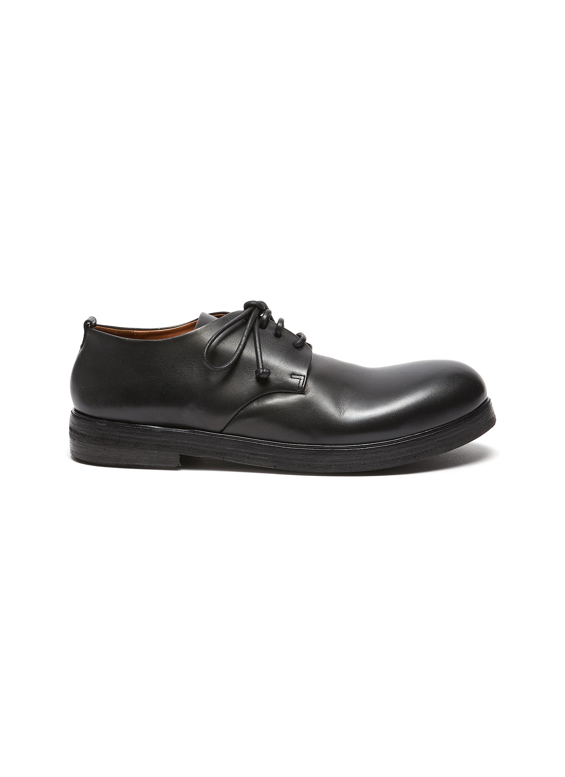 "Zucca Zeppa' Round Toe Leather Derby Shoes"" - MARSÈLL - Modalova"
