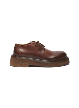 Main View - Click To Enlarge - MARSÈLL - Zuccone' Platform Sole Leather Derby Shoes