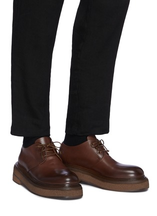 Figure View - Click To Enlarge - MARSÈLL - Zuccone' Platform Sole Leather Derby Shoes