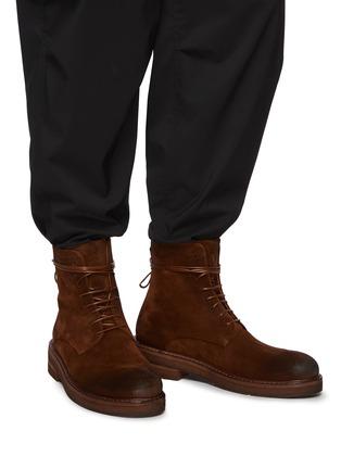 Figure View - Click To Enlarge - MARSÈLL - Parrucca' Suede Combat Boots