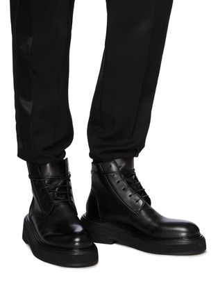 Figure View - Click To Enlarge - MARSÈLL - Zuccone' Leather Combat Boots