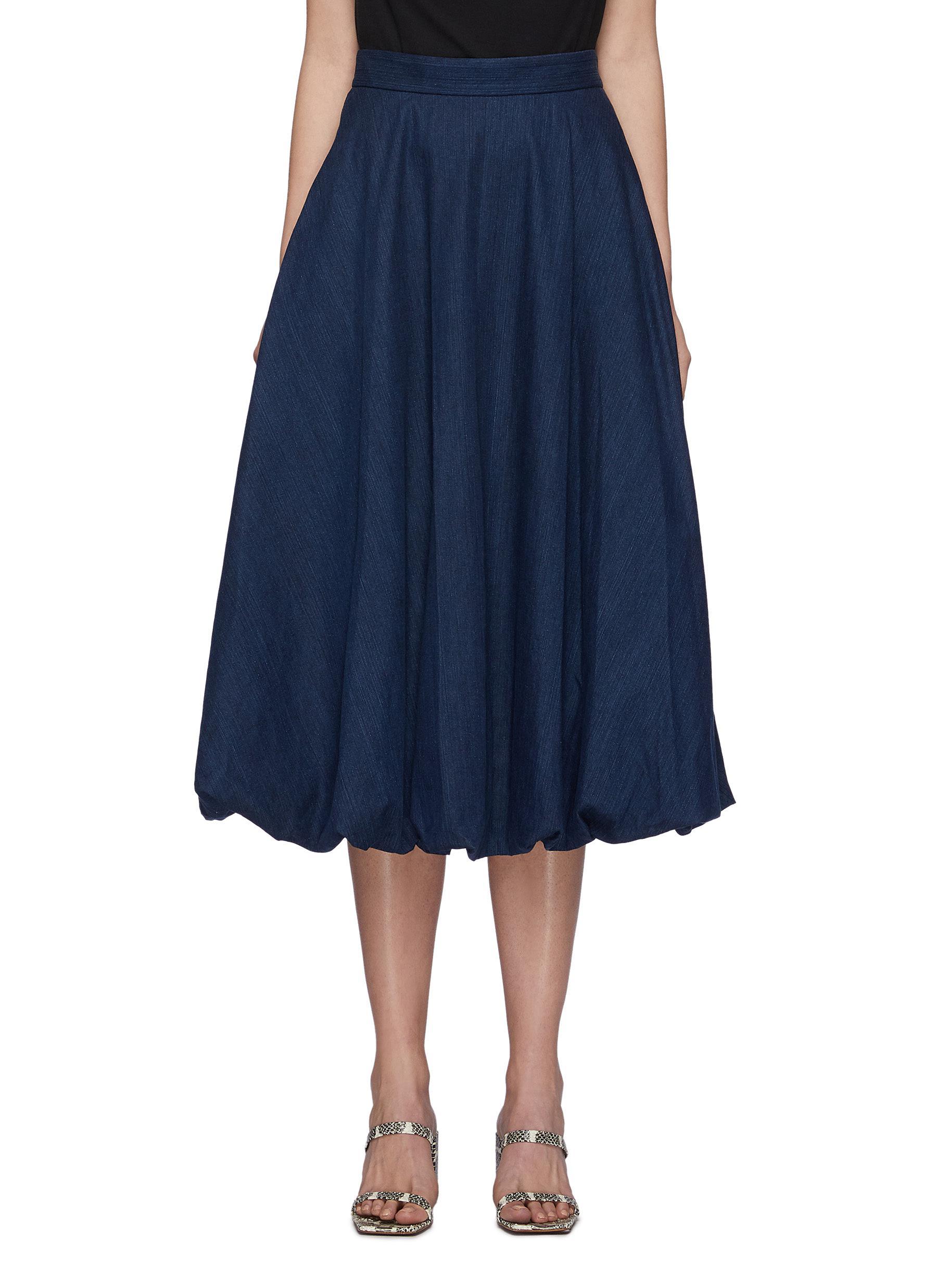 Summer denim bubble skirt - TIBI - Modalova