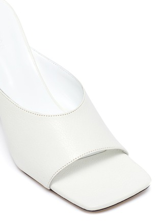 Detail View - Click To Enlarge - BY FAR - Zaya' Single Band Square Toe Leather Heeled Sandals