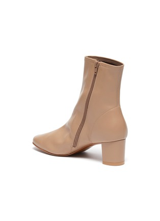 - BY FAR - 'SOFIA' LEATHER ANKLE BOOTS
