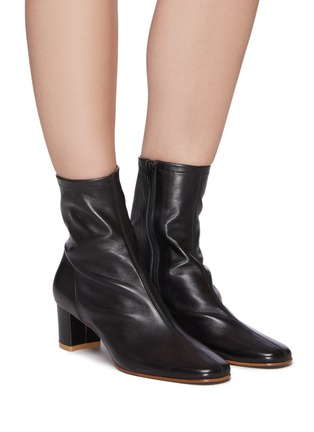 Figure View - Click To Enlarge - BY FAR - 'SOFIA' LEATHER ANKLE BOOTS