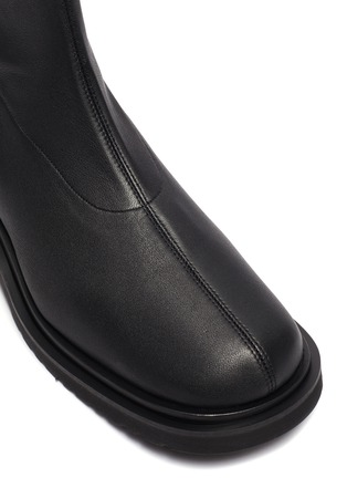 Detail View - Click To Enlarge - BY FAR - Kah' chunky sole square toe chelsea boots