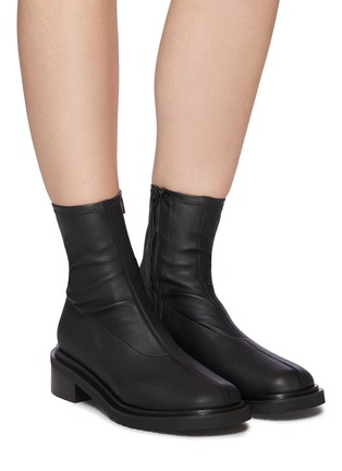 Figure View - Click To Enlarge - BY FAR - Kah' chunky sole square toe chelsea boots