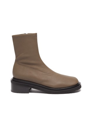 Main View - Click To Enlarge - BY FAR - 'Kah' chunky sole square toe chelsea boots