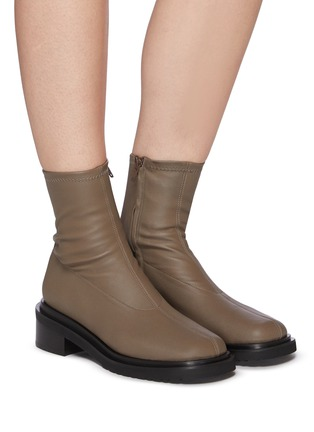 Figure View - Click To Enlarge - BY FAR - 'Kah' chunky sole square toe chelsea boots