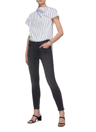 Figure View - Click To Enlarge - MOTHER - 'The Looker' ankle fray skinny jeans