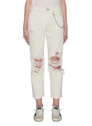 Main View - Click To Enlarge - RAG & BONE/JEAN - 'Maya' distressed knee jeans