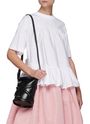 Figure View - Click To Enlarge - ALEXANDER MCQUEEN - The Curve' Small Leather Bucket Bag