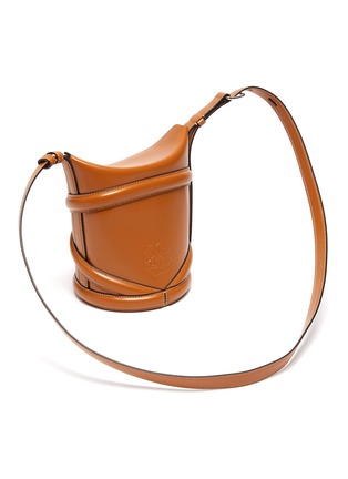 Detail View - Click To Enlarge - ALEXANDER MCQUEEN - The Curve' Small Leather Bucket Bag
