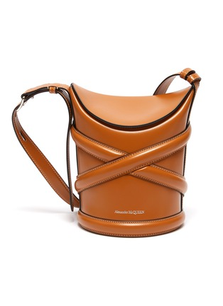 Main View - Click To Enlarge - ALEXANDER MCQUEEN - The Curve' Small Leather Bucket Bag