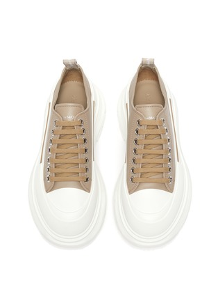 Detail View - Click To Enlarge - ALEXANDER MCQUEEN - Chunky Sole Leather Slick Sneakers