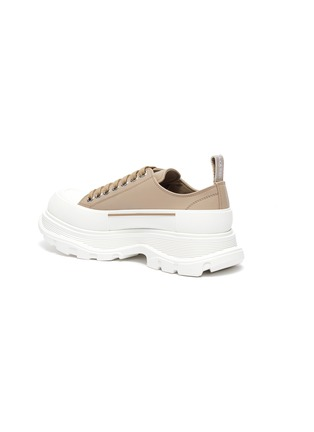 - ALEXANDER MCQUEEN - Chunky Sole Leather Slick Sneakers
