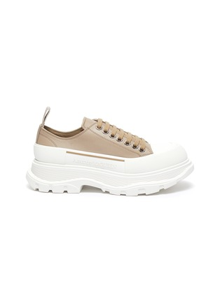 Main View - Click To Enlarge - ALEXANDER MCQUEEN - Chunky Sole Leather Slick Sneakers