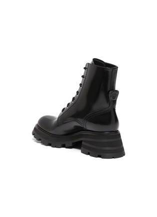 - ALEXANDER MCQUEEN - 'Wander' spazzolato leather combat boots