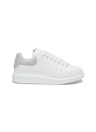 Main View - Click To Enlarge - ALEXANDER MCQUEEN - 'OVERSIZED SNEAKERS' IN CALFSKIN LEATHER WITH CONTRAST HEEL TAB