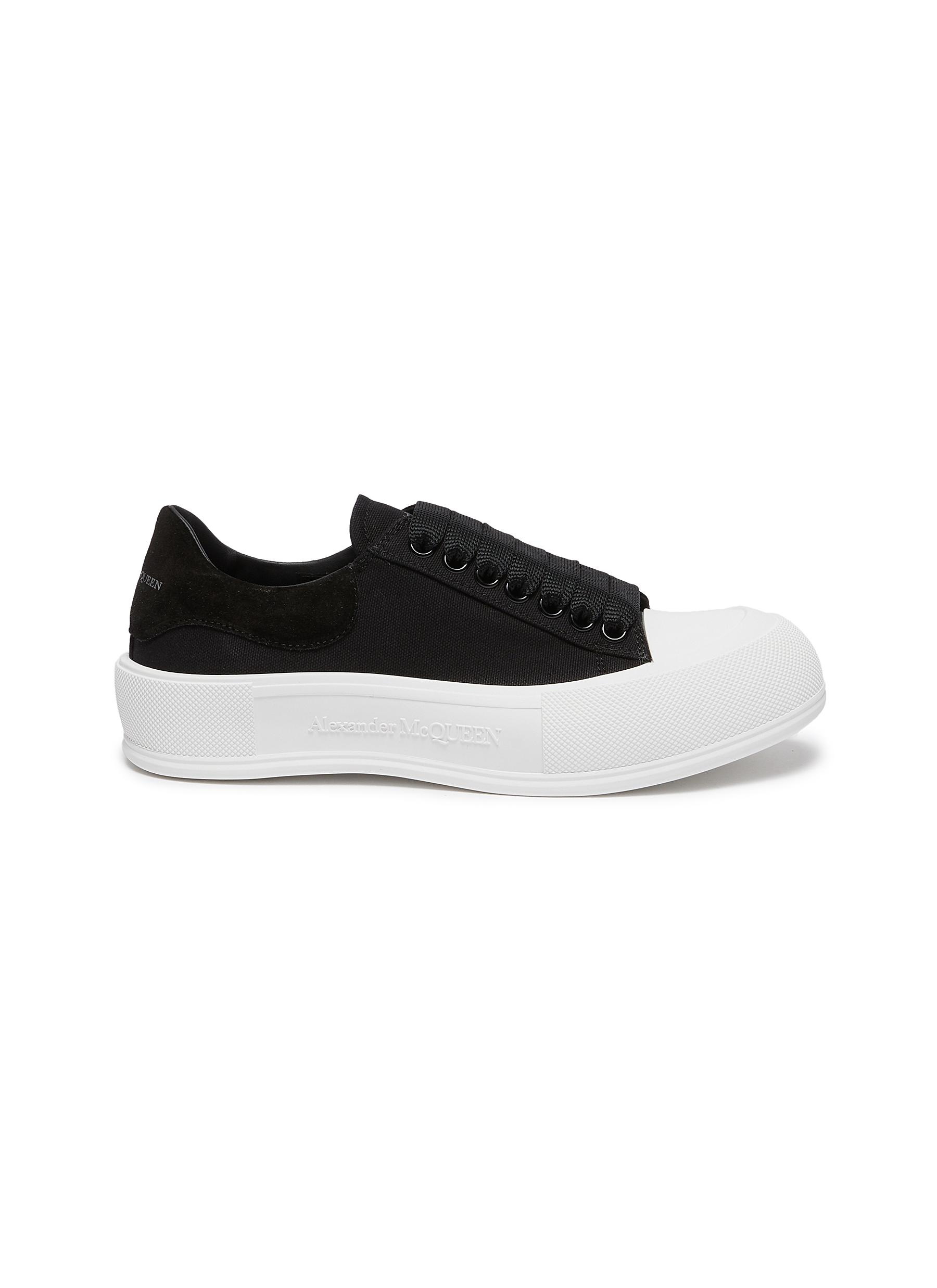 'Deck Plimsoll' lace-up sneakers