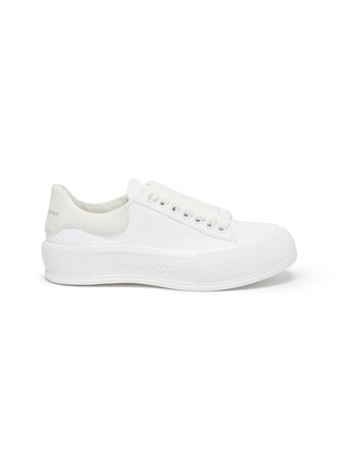 Main View - Click To Enlarge - ALEXANDER MCQUEEN - 'Deck Plimsoll' lace-up sneakers