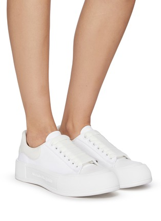 Figure View - Click To Enlarge - ALEXANDER MCQUEEN - 'Deck Plimsoll' lace-up sneakers