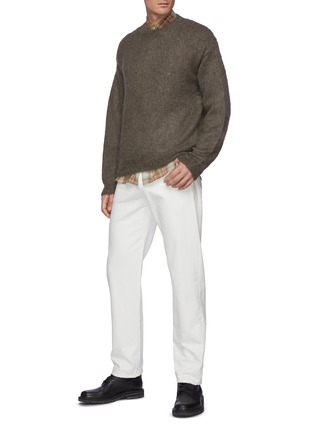 Figure View - Click To Enlarge - AURALEE - Brushed Super Kid Mohair Knit Pullover
