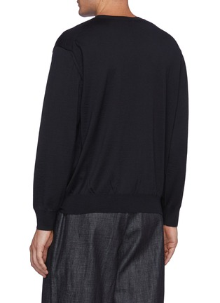 Back View - Click To Enlarge - AURALEE - Super High Gauge Wool Knit Pullover