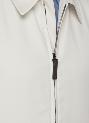 - BRIONI - 'Bowie' zip front shirt jacket