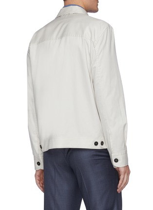 Back View - Click To Enlarge - BRIONI - 'Bowie' zip front shirt jacket