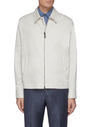 Main View - Click To Enlarge - BRIONI - 'Bowie' zip front shirt jacket