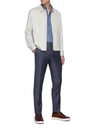 Figure View - Click To Enlarge - BRIONI - 'Bowie' zip front shirt jacket