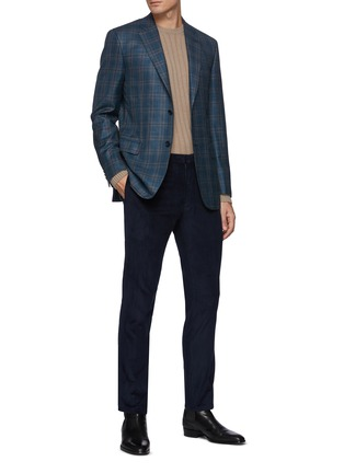 Figure View - Click To Enlarge - BRIONI - Leather Label Cash Sweater with Seamless Ribs