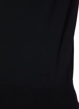 - BRIONI - Mock Neck Sustainable Wool Sweater