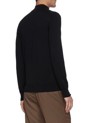 Back View - Click To Enlarge - BRIONI - Mock Neck Sustainable Wool Sweater