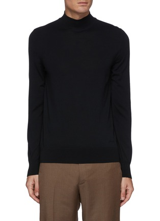 Main View - Click To Enlarge - BRIONI - Mock Neck Sustainable Wool Sweater