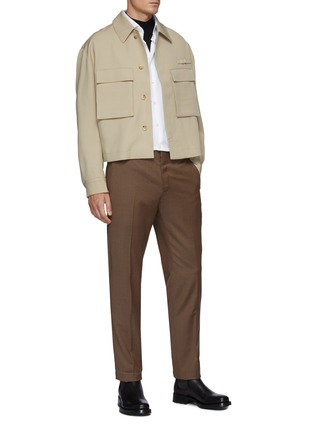 Figure View - Click To Enlarge - BRIONI - Mock Neck Sustainable Wool Sweater