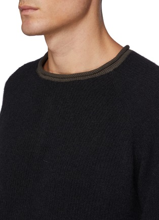 Detail View - Click To Enlarge - THE VIRIDI-ANNE - High Rolled Neck Warmer Knit Pullover