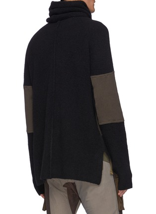 Back View - Click To Enlarge - THE VIRIDI-ANNE - High Rolled Neck Warmer Knit Pullover