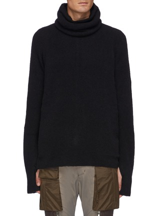 Main View - Click To Enlarge - THE VIRIDI-ANNE - High Rolled Neck Warmer Knit Pullover