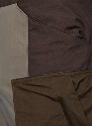 - THE VIRIDI-ANNE - Belt Detail Front Zip Panelled Tactical Pants