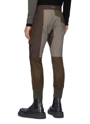 Back View - Click To Enlarge - THE VIRIDI-ANNE - Belt Detail Front Zip Panelled Tactical Pants